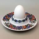Płaska porcelanowa podstawka pod jajko