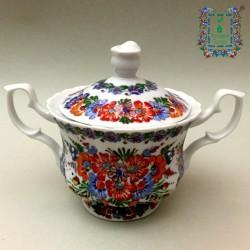 Cukiernica porcelanowa na stopce