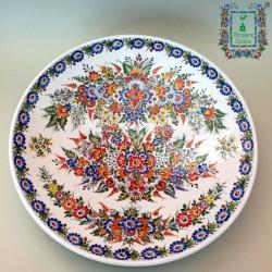 Porcelanowa patera na owoce skośna
