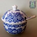 Cukiernica porcelanowa z łyżeczką