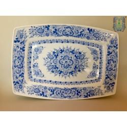 Półmisek porcelanowy niebieski