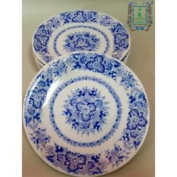 Talerz deserowy niebieski 19cm